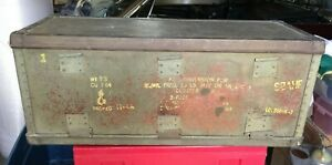 RARE-WWII-US-Army-FRAG-BOMB-KIT-CONVERSION-Box-Case-S2AHF-M-2-or-ANM408-CLUSTER