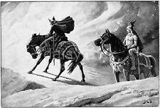 Odin /& Frigga George Theaker 1920 Norse Germanic Mythology Gods 7x5 Inch Print