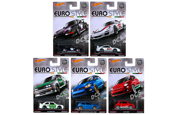 HOT WHEELS CASE OF 10 CARS EURO STYLE ASSORTMENT 1 64 DIECAST CAR DJF77-956B
