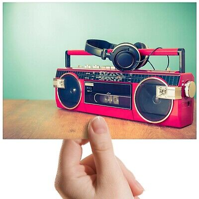 "Retro Radio Vintage Boombox Small Photograph 6/"" x 4/"" Art Print Photo Gift #14276"