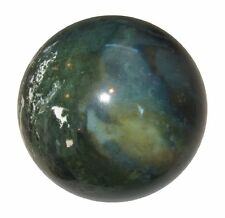 Moss Agate Stone Sphere Ball Table Home Decor Meditation Reiki Healing 45-50MM