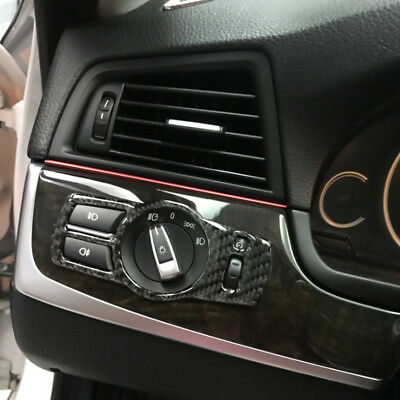 Carbon Fiber Headlight Switch Button Cover For BMW 5 Series GT F07 2010-2017
