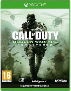 Call of Duty Modern Warfare Remastered Xbox One COD Brand New Factory Sealed