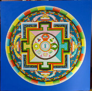 Details About Unique Handmade Painted Mandala Spiritual Artwork Colorful Painting Wall Decor