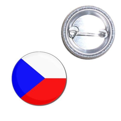 Czech Republic Flag Button Badge Choice 25mm//55mm//77mm Novelty Fun BadgeBeast