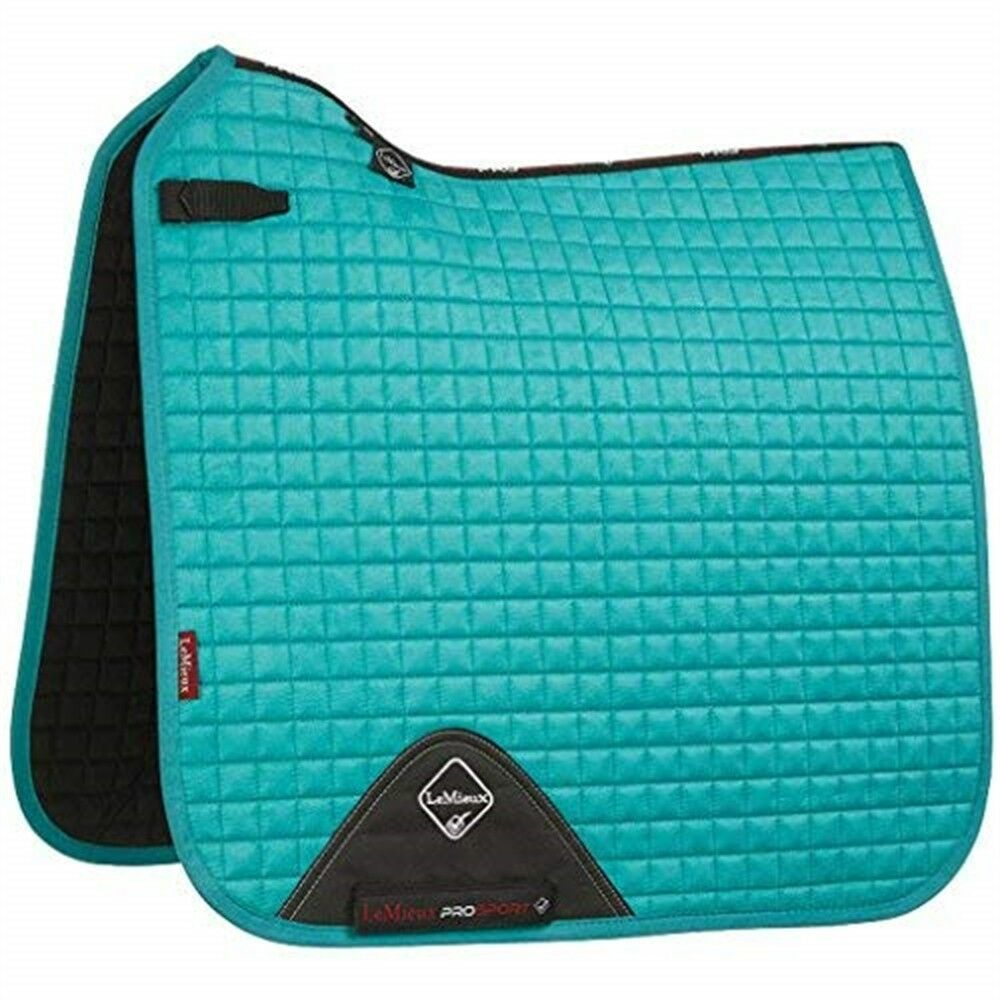 Lemieux  Prosport Lustre suede Dressage Square (d-ring) - Turquoise -  free delivery and returns