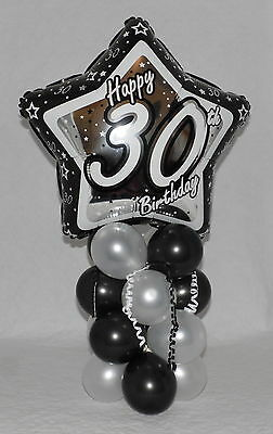 30th  BIRTHDAY - AGE 30  - MALE - FOIL BALLOON DISPLAY-TABLE CENTREPIECE-BANNER