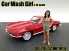 CAR WASH GIRL DOROTHY FIGURE FOR 1:18 SCALE MODELS BY AMERICAN DIORAMA 23842