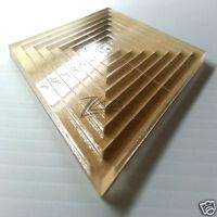1/2-4(8 Piece)1/4 Nested Diamond Template Acrylic Plexiglass Quilting Stencil