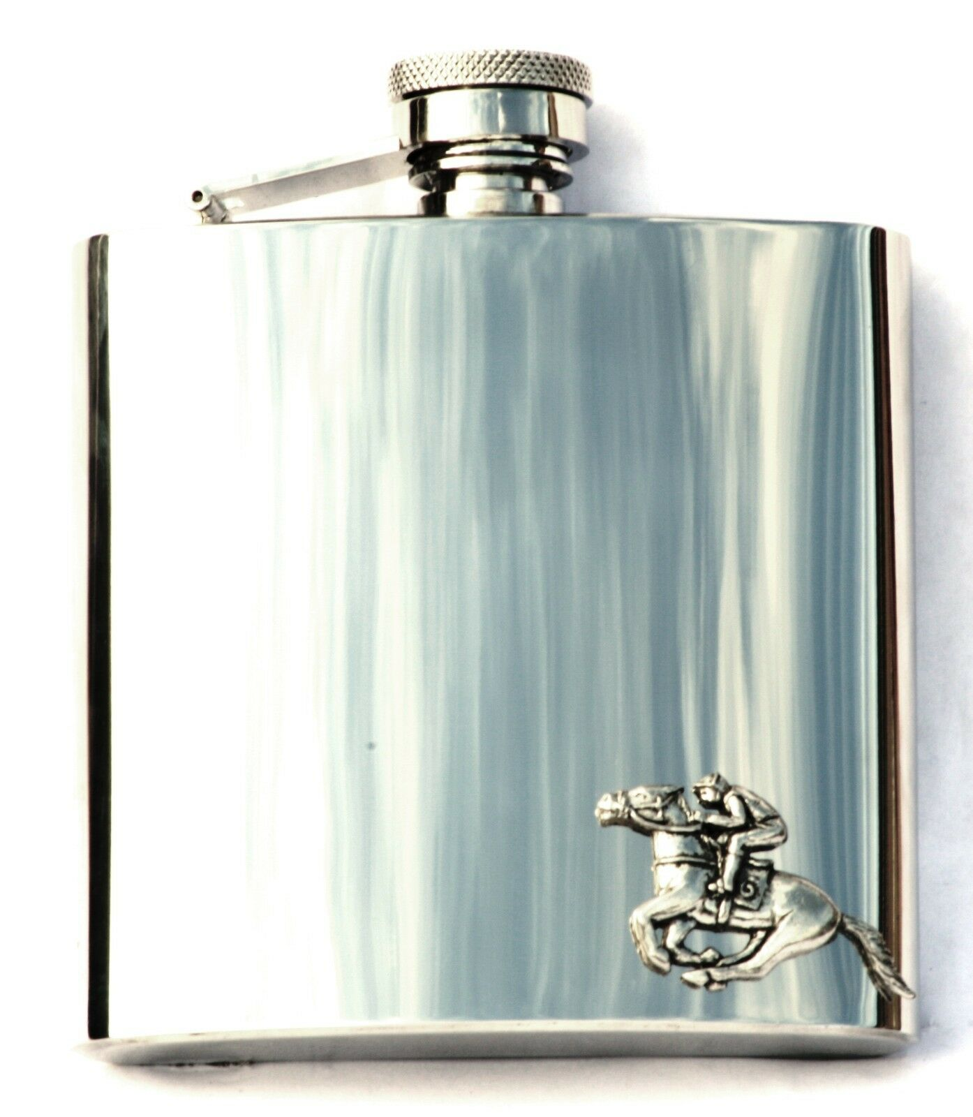 Horse Hurdle Racing Hip Flask Equestrian Riding Hunter Gift FREE ENGRAVING