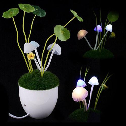 led night light avatar mushroom lamp decoration gift