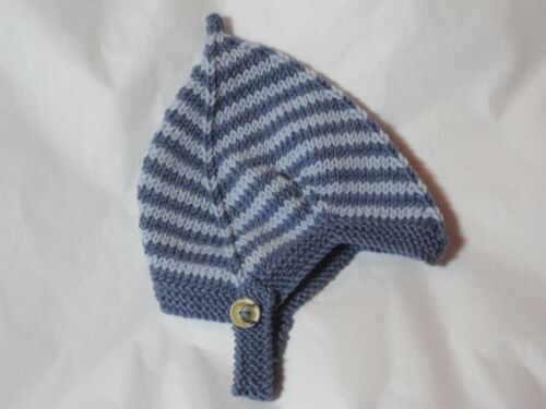 Luxury Hand Knitted Cashmere//Wool//Silk Pixie Style baby hat 1-3yrs