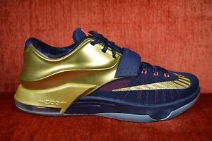 best cheap 958df cf99a Details about WORN TWICE Nike KD 7 VII PRM Gold Medal Size 12 706858 476  jordan