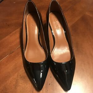 ee526bc3495 Image is loading Coach-Patent-Leather-Mid-Heel-Pumps-Size-10-