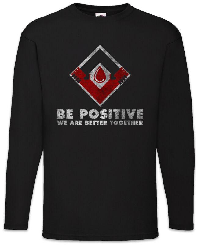 Be Positive Partnership Ii Herren Langarm T-shirt The Vampir Strain Logo Firma