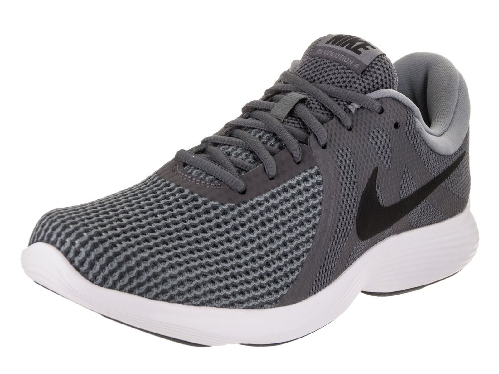 NIKE Men's Revolution 4 Running Shoe Dark Grey/Black/White Size 13