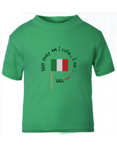Italian Map Not Am I Cute I/'m Italian Too Toddler Kid T-shirt Tee 6mo Thru 7t