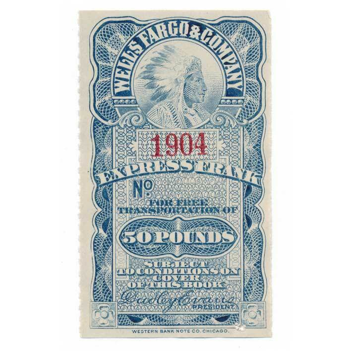 American Express Co. Complimentary Frank Stamp 1904 50l