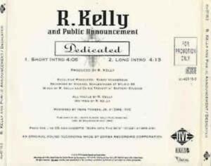 R  Kelly & Public Announcement Dedicated PROMO MUSIC AUDIO CD Short