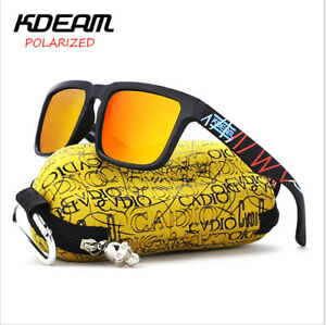 c4bb0c6652 Image is loading Kdeam-Polarized-Sunglasses-Retro-Square-Outdoor-Sports- Cycling-