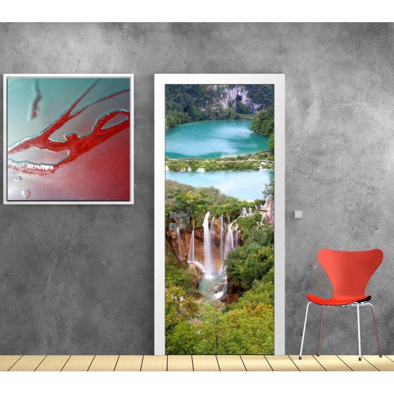 Cartel Póster para Puerta - Cascada Plivice 718 Arte Decoración Pegatinas
