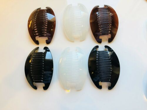 6 set Jumbo Banana Comb Clip Thick Hair Riser Claw Interlocking Jaw