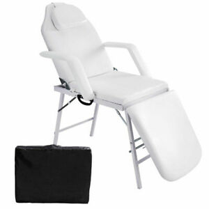 Fine Details About 73 Portable Tattoo Parlor Spa Salon Facial Bed Beauty Massage Table Chair White Ibusinesslaw Wood Chair Design Ideas Ibusinesslaworg