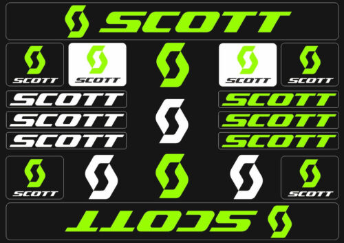 Scott Bicycle Frame Decals Stickers Graphic Adhesive Set Vinyl Green