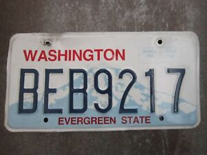 Washington-BEB9217-American-License-Number-Plate-Collecting-Craft-Hobby