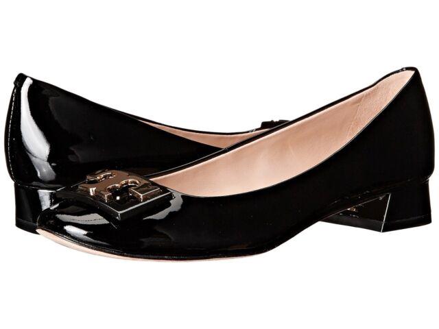 17bb8111d NIB Tory Burch Gigi Pumps Shoes Patent Leather BLACK GOLD 7.5 M Runs Large