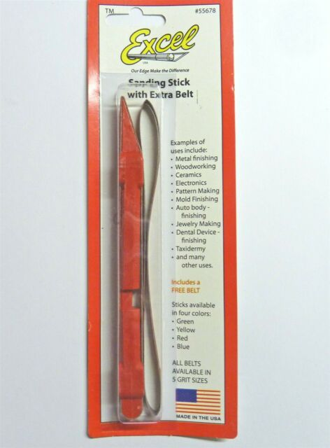 Blue 240 Grit Excel Sanding Stick +One Extra Belt Closeout 55678