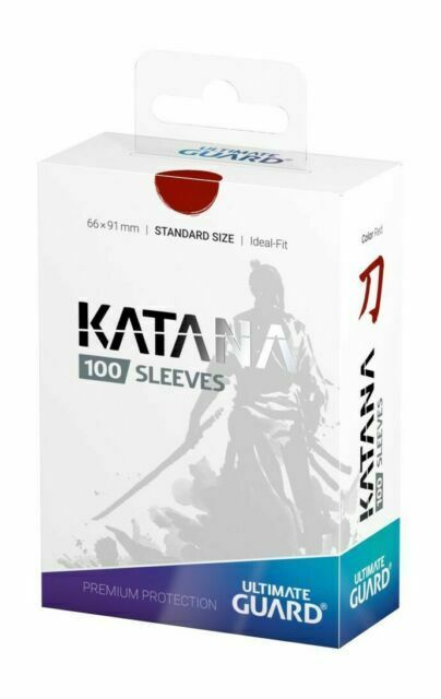 Ultimate Guard KATANA Red Deck Protector Sleeves Standard Card 100ct 66x91mm