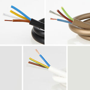 Neu PVC-Lampen-Kabel Elektrokabel Leuchten Kabel 3-adrig mit Stahlseil  IG33