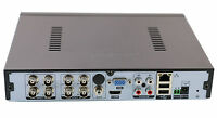 AHD NVR DVR Hybrid 8CH 1080P Video 4CH Audio Recorder H.264 Security CCTV DVR