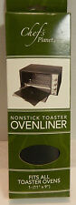 Chef's Planet Non Stick Toaster Oven Liner New In Box Fits All Toaster Ovens