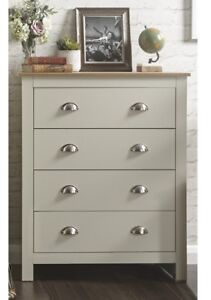 Image Is Loading Country Style Bedroom Furniture 4 Drawer Chest Lancaster
