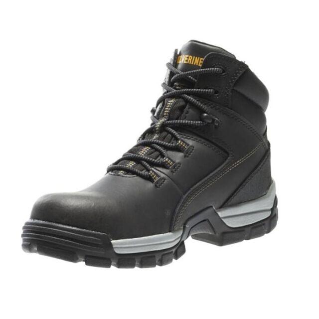 db8d19bfb18 Wolverine Men's Tarmac 10304 Black Leather 6