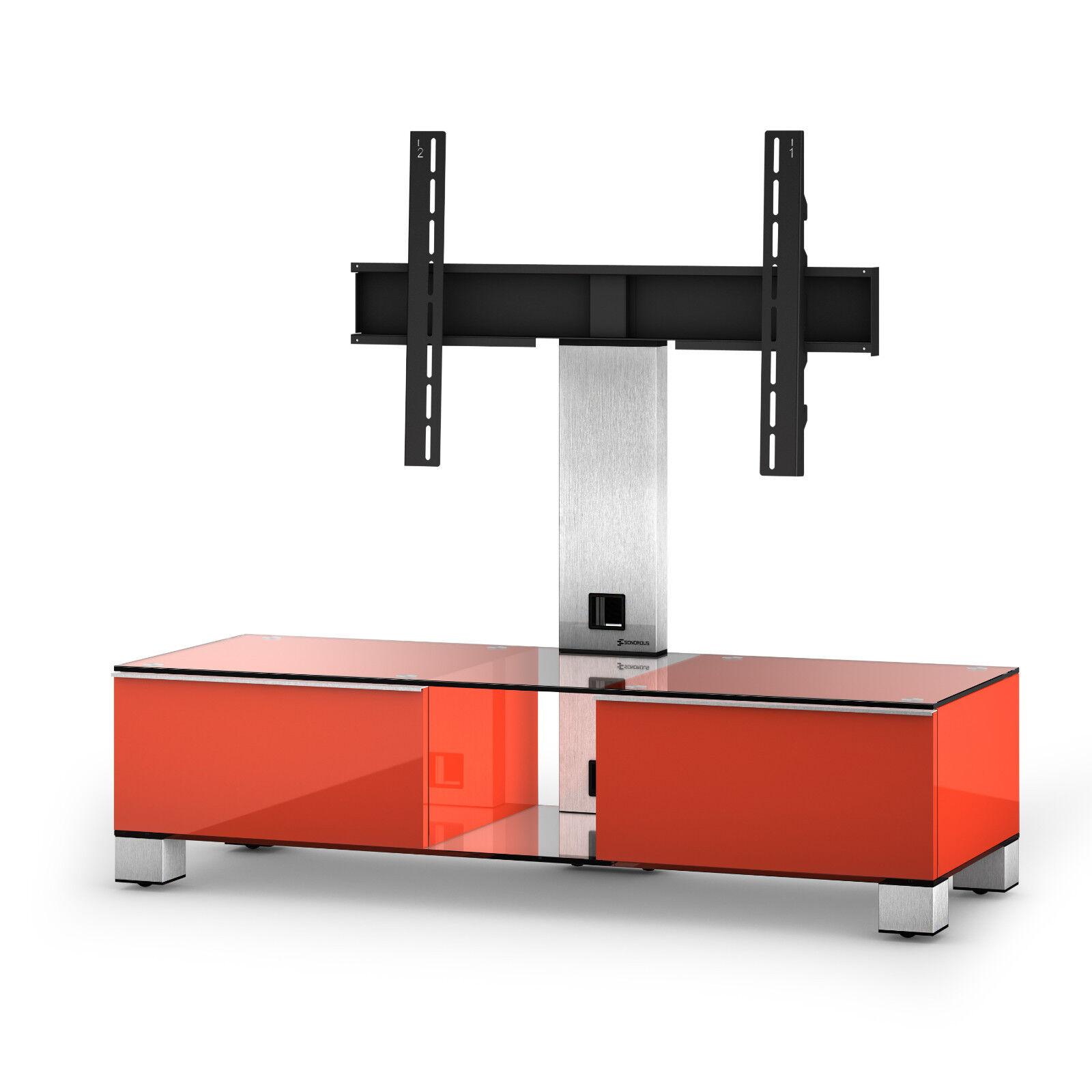 SonGoldus MD 8120-C-INX-rot TV-Möbel Fernsehtisch für 50  Fernseher rot, rot, rot, 120 cm 7cc3d2