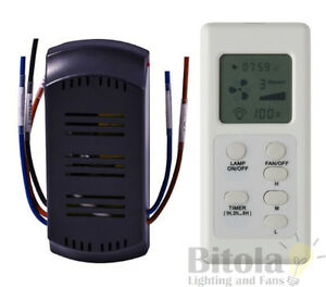 NEW-MERCATOR-FRM97-LCD-CEILING-FAN-TIMER-REMOTE-CONTROL-KIT-UNIVERSAL-RF