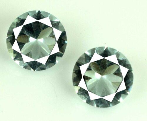 Round Cut Gemstone Pair 4.15 Carat//8mm 100/% Natural Aquamarine AGSL Certified
