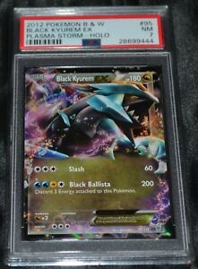 Holo-Foil-Black-Kyurem-EX-95-135-B-amp-W-Plasma-Storm-Set-Pokemon-Cards-PSA-7-NM