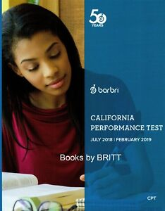 2019 Barbri Bar Exam California Performance Test Workbook