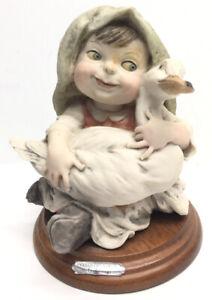 Giuseppe Armani Gullivers World Figurine Girl With Goose