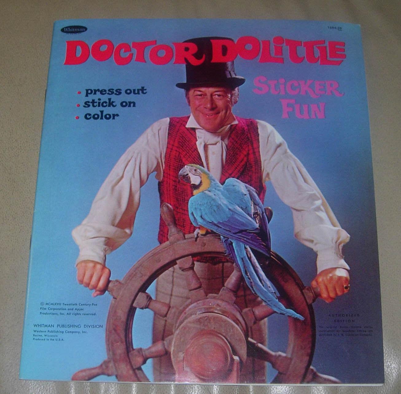 Doctor Dolittle pegatina diverdeido Whitman 1967 intacta y sin usar limpia y afilada