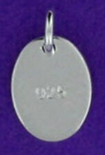5 STERLING SILVER TAGS WITH OPEN JUMP RING, STAMPED 925, 7 MM