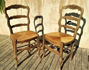 Paire de chaises rustique anciennes