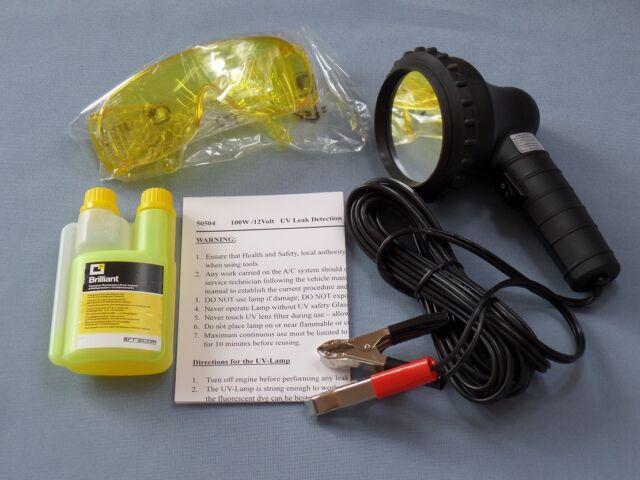 Led U//V Lampe /& Schuzbrille zur Lecksuche Kfz-Klimaanlagen Bright Magnifier