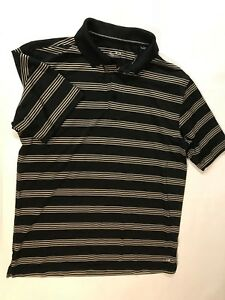 Champion-C9-Black-Striped-Poly-Stretch-POLO-SHIRT-Large-Small