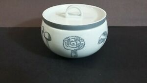 Block-China-Mushrooms-Gray-amp-White-Sugar-Bowl