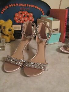 62a7f78f1447 Jewel by Badgley Mischka Jewel Mayra Heeled Sandals Champagne Size 8 ...